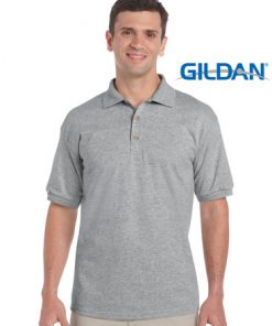 Men's Ultra Cotton Adult Jersey Sport Polo - S, Sport Grey