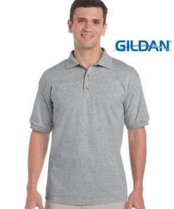 Men's Ultra Cotton Adult Jersey Sport Polo - L, Sport Grey