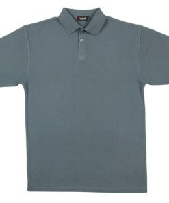 Men's Pastel Polo - M, Steel Blue