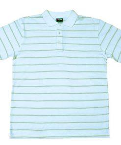 Men's Golf Polo - L, White/Olive