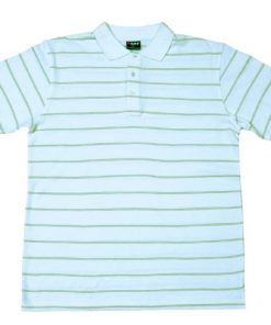 Men's Golf Polo - XL, White/Olive