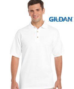 Men's Ultra Cotton Adult Jersey Sport Polo - L, White